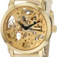 Akribos XXIV Women&#x27;s AKR431YG Gold Swiss Automatic Skeleton Watch | eSaleaDay | Products you love