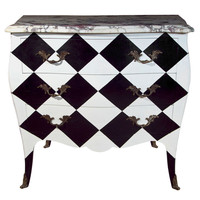 Greenwich Living Antiques &amp; Design Centre&#x27; - French Painted Marble Top Commode - 1stdibs