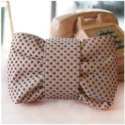 MochiThings.com: Brown Dot Ribbon Pouch