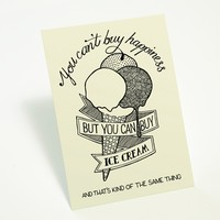 """Can't Buy Happiness"" card 