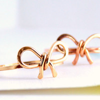 Forget Me Knot Bow Ring - Gold Bow Ring / friendship ring / Gold Filled Ring / gold ring / promise ring