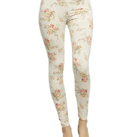 Soft Floral Legging | Wet Seal