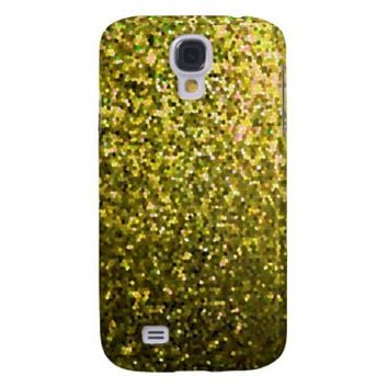 Samsung Galaxy S4 Case Gold Mosaic Sparkley