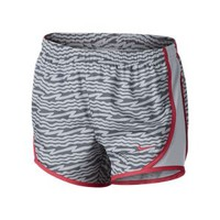 Nike Tempo Graphics Girls' Running Shorts - Wolf Grey