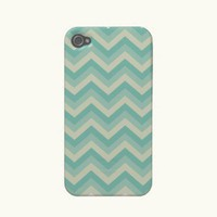 Aqua Blue Zigzag Pattern iPhone Case Iphone 4 Covers from Zazzle.com