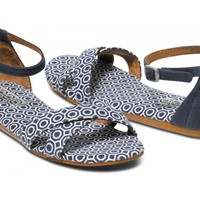 Navy Geometric Jonathan Adler for TOMS Vegan Women's Correa Sandal