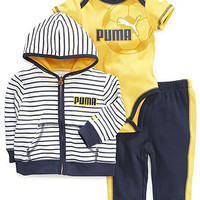 Puma Baby Boys' 3-Piece Hoodie, Bodysuit & Pants Set