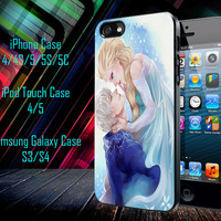 Jack Frost and Elsa, Disney Frozen Samsung Galaxy S3/ S4 case, iPhone 4/4S / 5/ 5s/ 5c case, iPod Touch 4 / 5 case