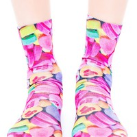 Conversation Hearts Socks
