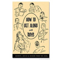 How to Get Along with Boys Book - Vintage 1950&#x27;s Book