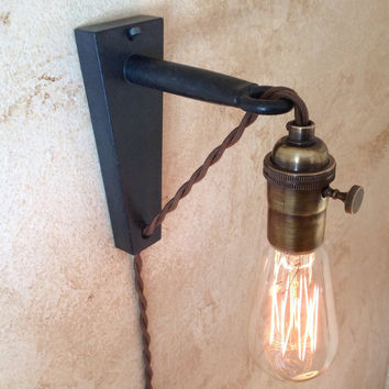 hanging pendant wall sconce retro edison from ironcladindustrial. Black Bedroom Furniture Sets. Home Design Ideas
