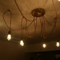 Industrial Chandelier by phdconceptions on Etsy