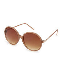 F7124 Oversized Round Sunglasses