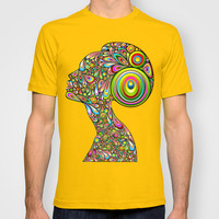 Woman Psychedelic Art Design Portrait T-shirt by Bluedarkat Lem