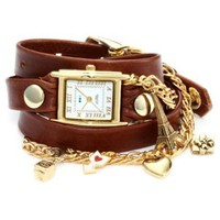 La Mer Collections Women's LMCW3002 Paris Charms Chain Wrap Watch - designer shoes, handbags, jewelry, watches, and fashion accessories | endless.com