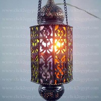 Cast Brass Handmade Islamic Hanging Lamp / by click2egyptCOM