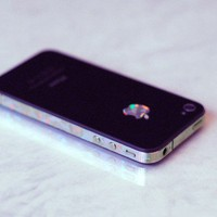 iPhone 4S Antenna Wrap Prismatic Crystals by kellokult on Etsy