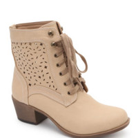 Black Poppy Lazer Cut Lace Heel Boots at PacSun.com