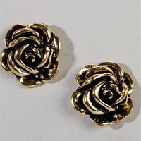 Antique Rose Bud Earrings