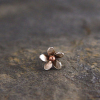 Helix Plumeria Flower Earring Sterling silver and by HapaGirls
