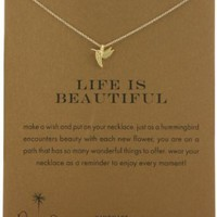 Dogeared Sterling Silver Life Is Beautiful Reminder Necklace, 18""