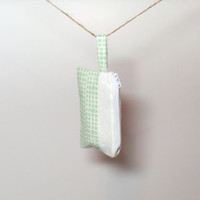 Mint Green Bag - Small Zipper Bag - Coin Purse - Business Card Holder - Zippered Bag - Small Bag