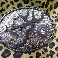 Buck'N Bullets Rodeo Glitz Belt Buckle