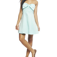 Bow Bust Skater Tube Dress | Wet Seal