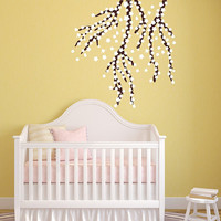 Vinyl Wall Decal Cherry Blossom Tree Branches Nursery Wall Decor 22392