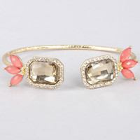 Endless Friend Coral Rhinestone Bracelet