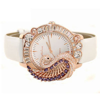 Melissa Brand Discount Peacock Rhinestone Crystals Watch F114102