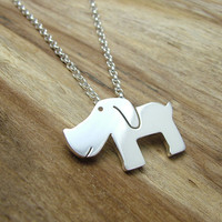 Sterling Silver Doggy Necklace with Gift Box - Animal Jewellery