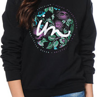 Imperial Motion Floral State Black Crew Neck Sweatshirt