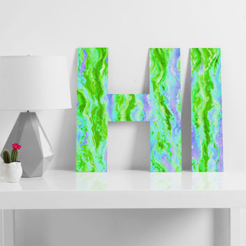 Lisa Argyropoulos Marbled Spring Decorative Letters