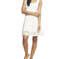 Lace Inset Tank Skater Dress | Wet Seal