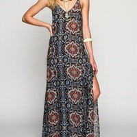 Full Tilt Slip Maxi Dress Multi  In Sizes