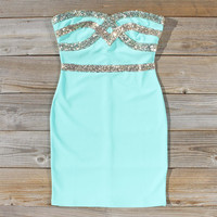 Sleigh Bells Party Dress in Mint