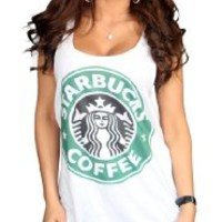 Starbucks White Color T-Shirt Logo I