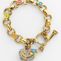 Juicy Couture 'Blooming Hearts' Charm Bracelet | Nordstrom