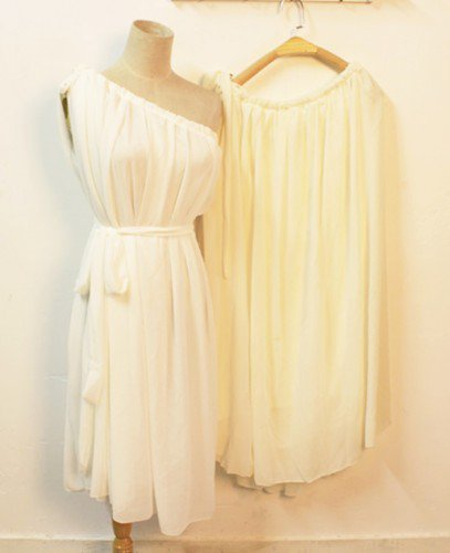 Grecian Goddness. One Shoulder Grecian Pleated White Chiffon Dress | GlamUp - Clothing on ArtFire