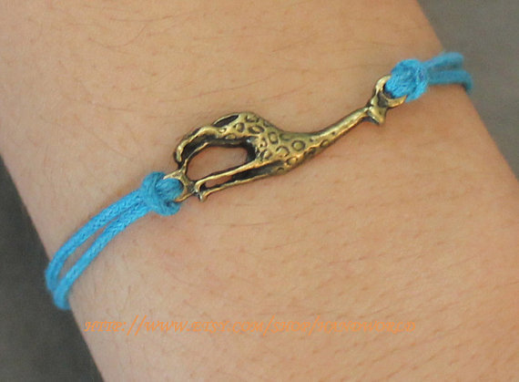 antique bronze giraffe bracelet by handworld