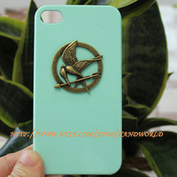Brass Mockingjay Hard Case For Apple iPhone 4g/4s by handworld