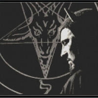 Anton Lavey Cross Stitch Pattern