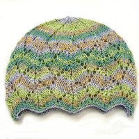 Green brown and blue laced beanie, soft wool hat for kids, 1-6 year old girls, READY TO SHIP