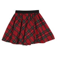 Mixed Color Tartan Mini Skirt