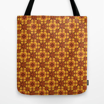 Ornament Little Flowers Pattern Tote Bag by Danflcreativo