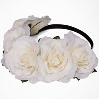 LARGE FLOWER CROWN - IVORY