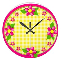 Yellow Gingham - Pink