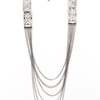 X-Stencil Necklace in Silver :: tobi