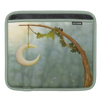 Crescent Moon Hanging On A Tree iPad Sleeve